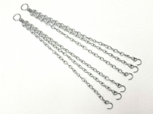 "2 Garden Hanging Basket Chains Easy Fit Spare Metal 16"" long Replacement Hangers"